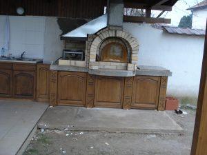 Кухненски шкафове по поръчка за барбекю от Mebel 2010